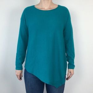 Charter Club 100% Cashmere Teal Sweater Size Large